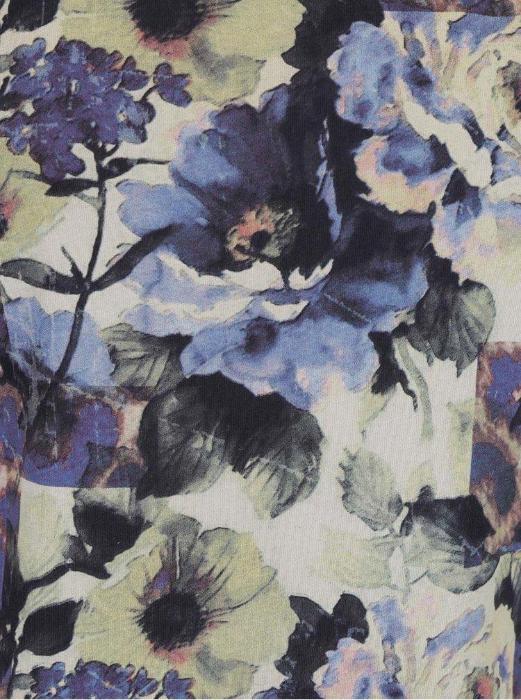 Tricou albastru Rich & Royal cu imprimeu floral