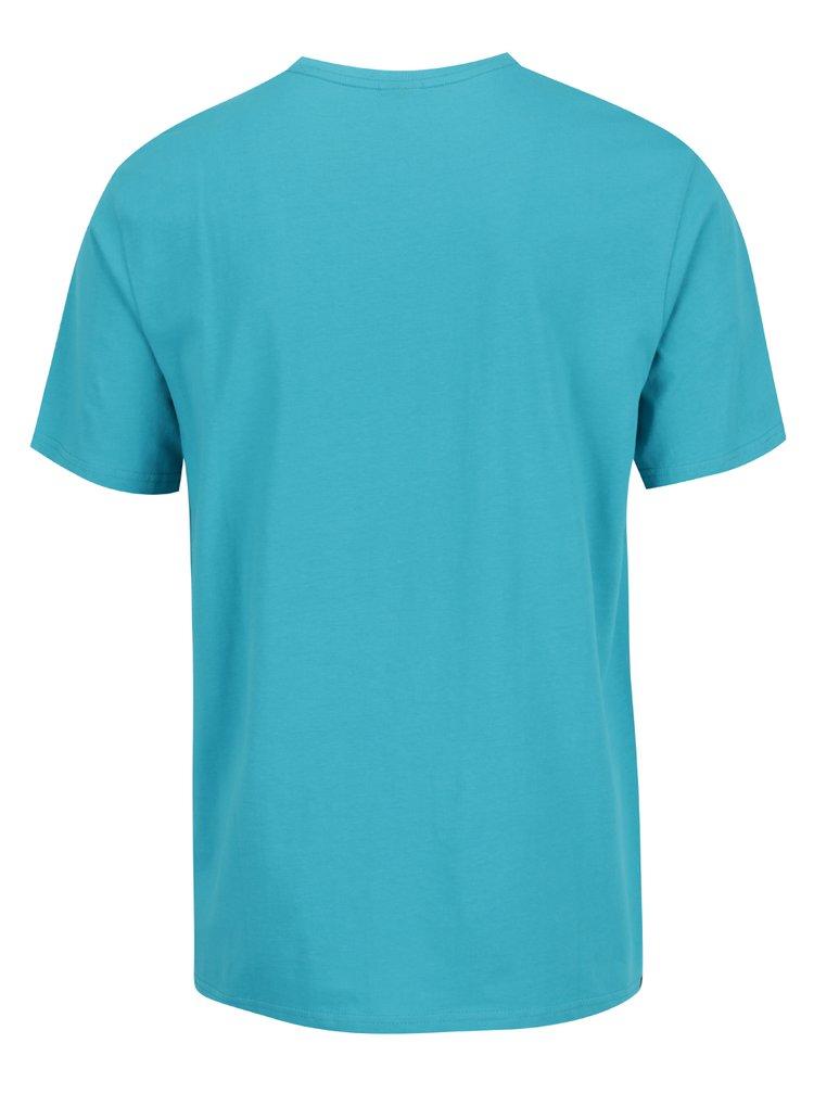 Modré pánské triko s potiskem Rip Curl Fresh Eclipse