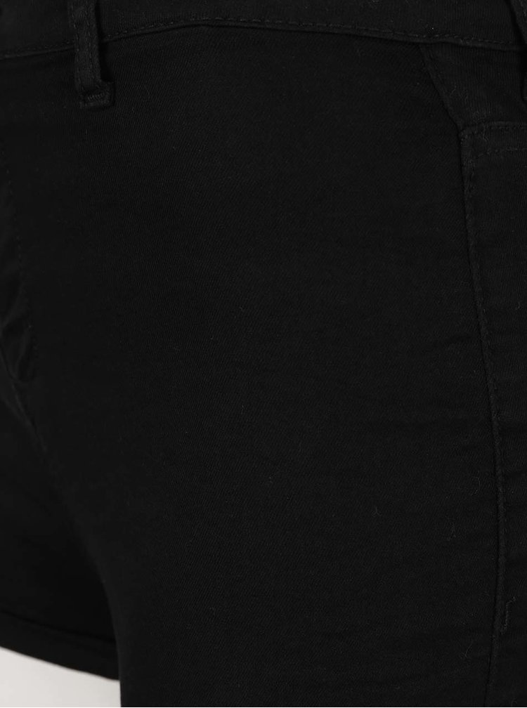 Černé kraťasy s vysokým pasem TALLY WEiJL