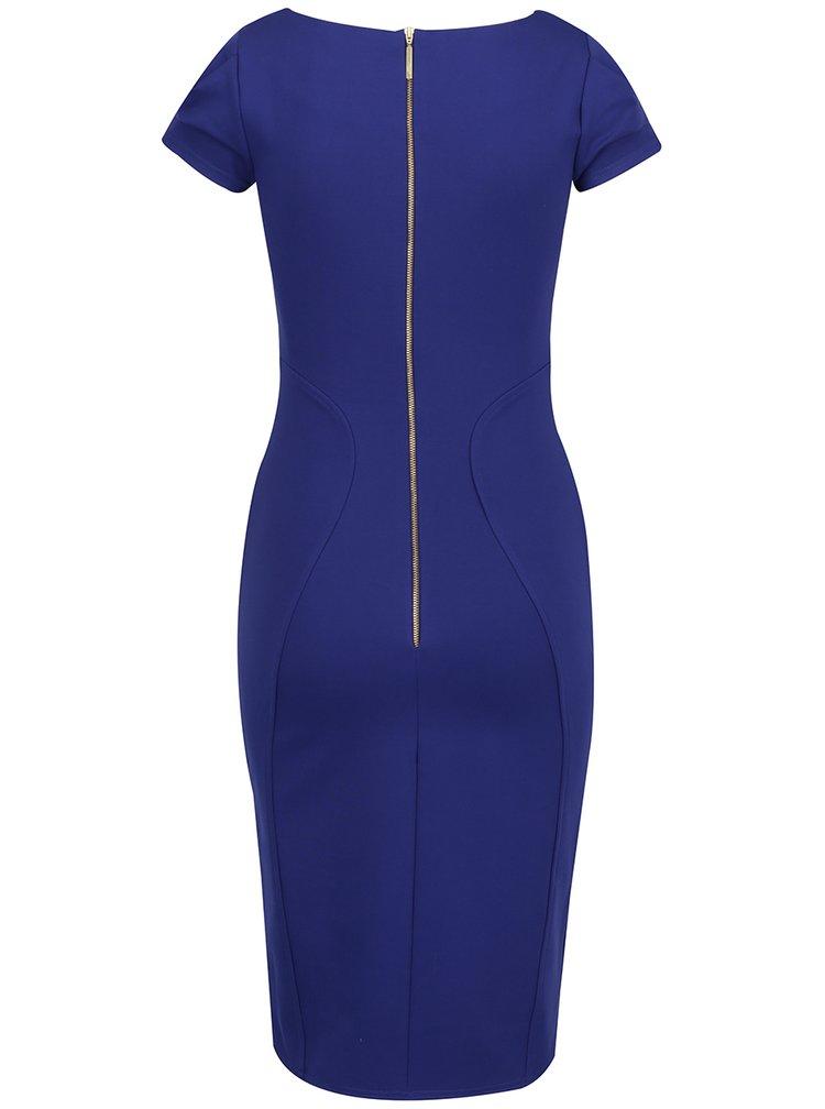Rochie albastra Closet fermoar auriu