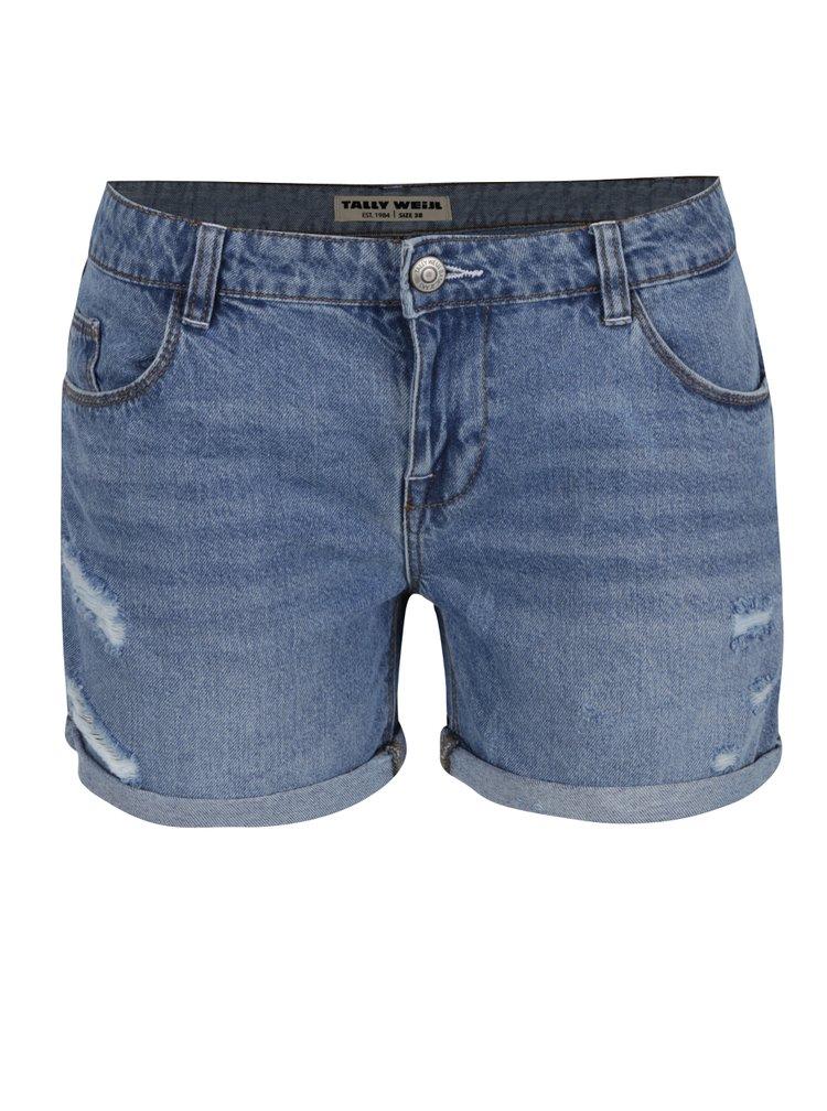 Pantaloni scurti albastri TALLY WEiJL din denim