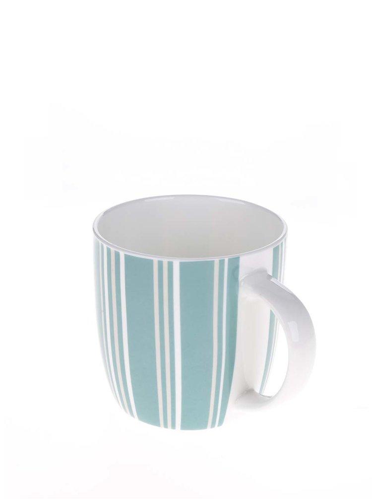 Bílo-modrý porcelánový pruhovaný hrnek Kitchen Craft