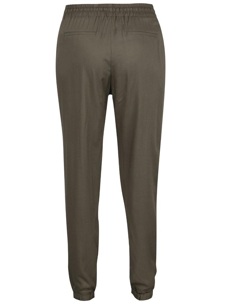 Khaki kalhoty s pružným pasem TALLY WEiJL