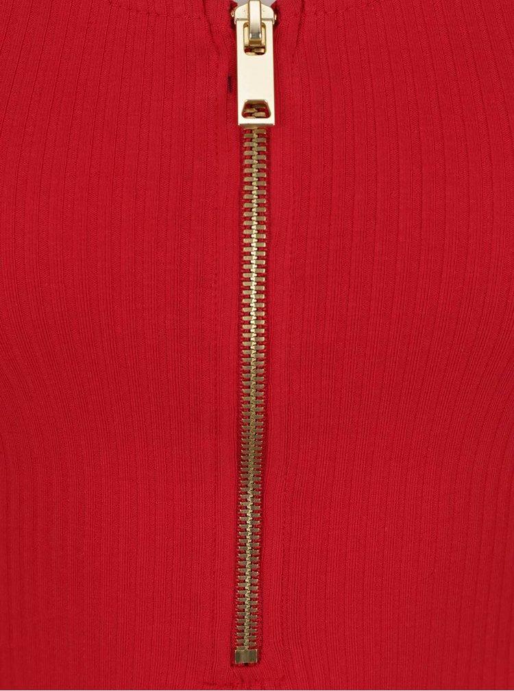 Rochie roșie TALLY WEiJL cu fermoar