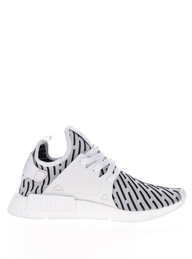 Černo-bílé pánské vzorované tenisky adidas Originals NMD_XR1 Primeknit
