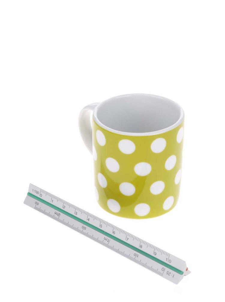 Zelený porcelánový puntíkovaný hrnek na espresso Kitchen Craft