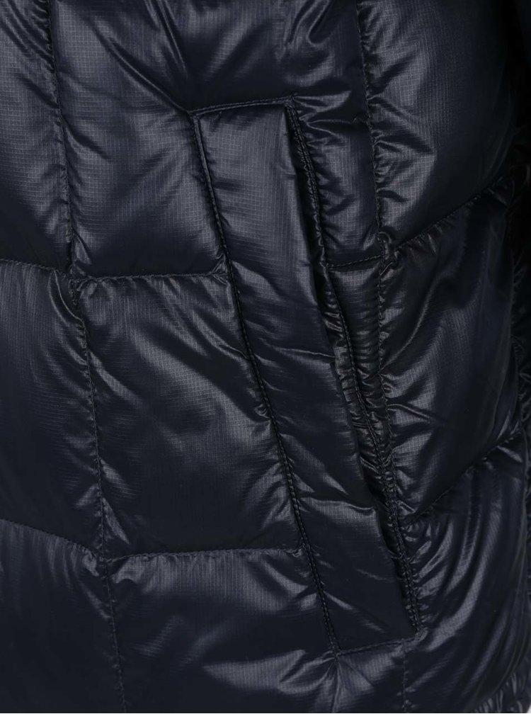 Tmavě modrá pánská prošívaná bunda s kapucí Geox Down