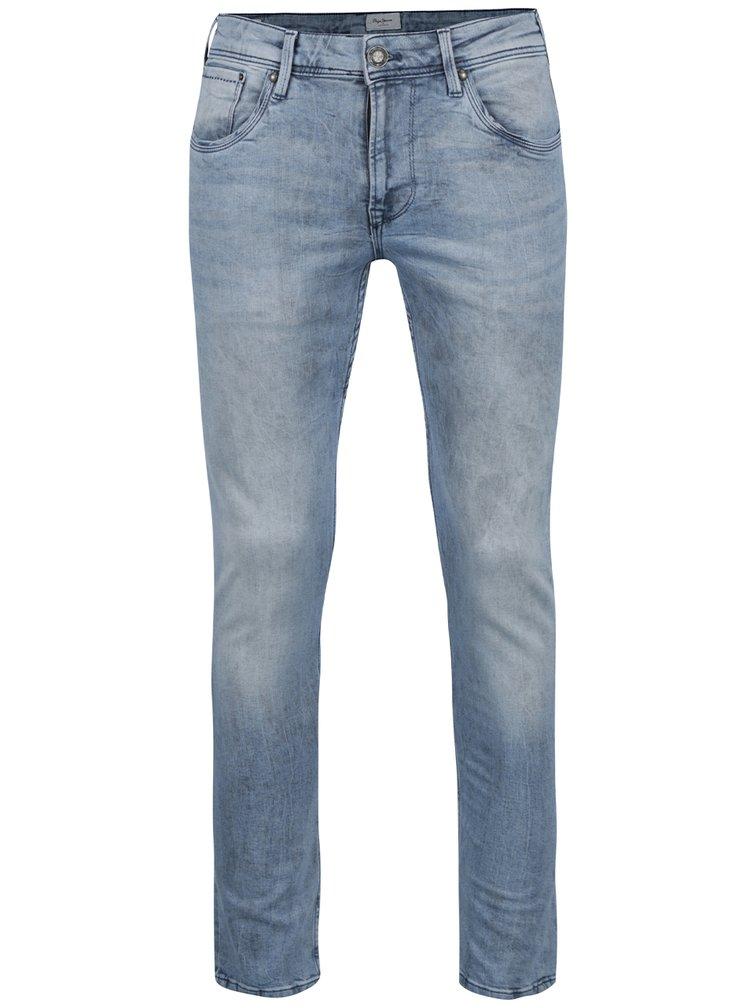 Blugi albastru deschis slim Pepe Jeans Nickel