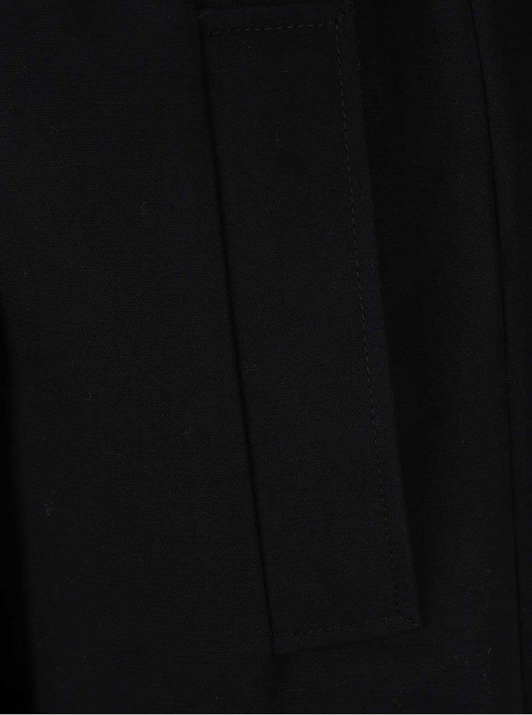 Palton negru French Connection Freeway cu nasturi