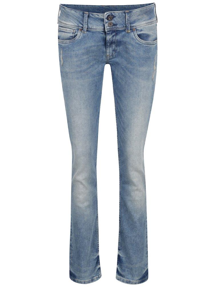 Světle modré dámské slim fit džíny Pepe Jeans Vera