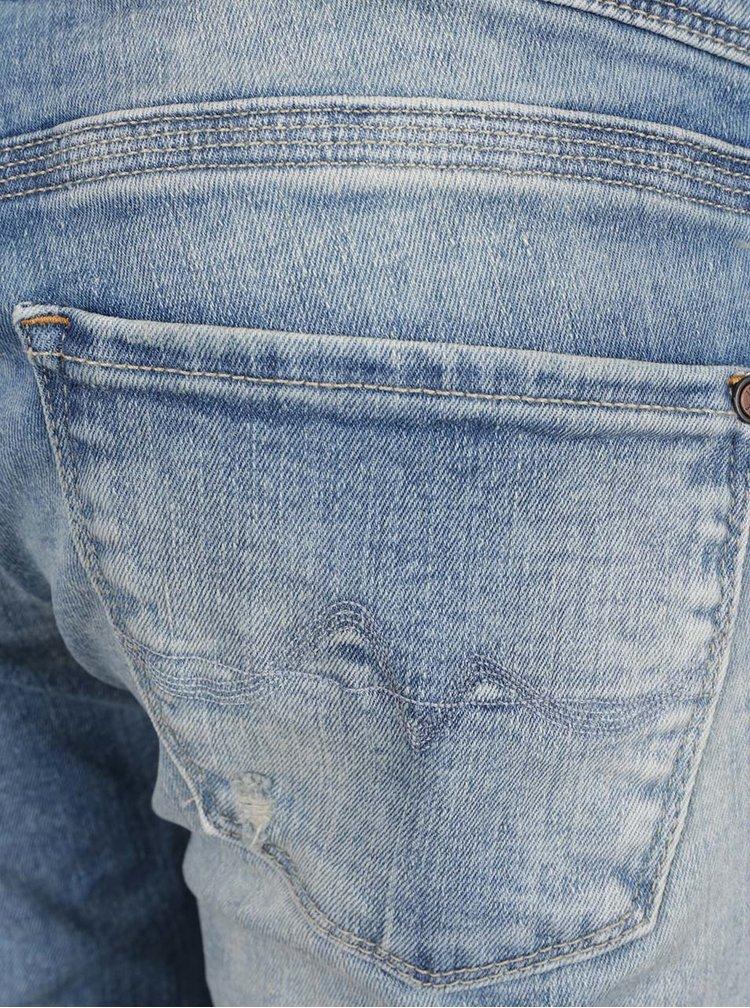 Blugi albaștri cu aspect decolorat  Pepe Jeans Vera