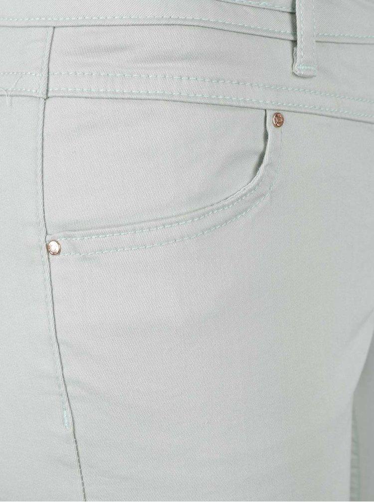 Mentolové slim fit džíny VILA Karisma