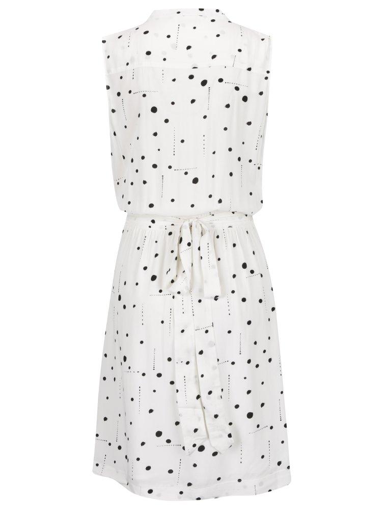 Krémové vzorované zavinovací šaty Broadway Despina