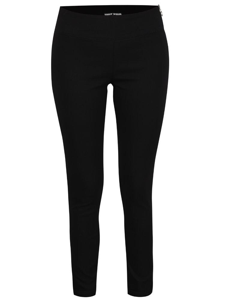 Pantaloni negri TALLY WEiJL cu talie înaltă