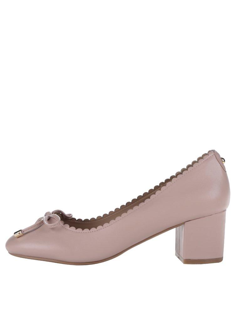 Pantofi roz cu toc gros Dorothy Perkins