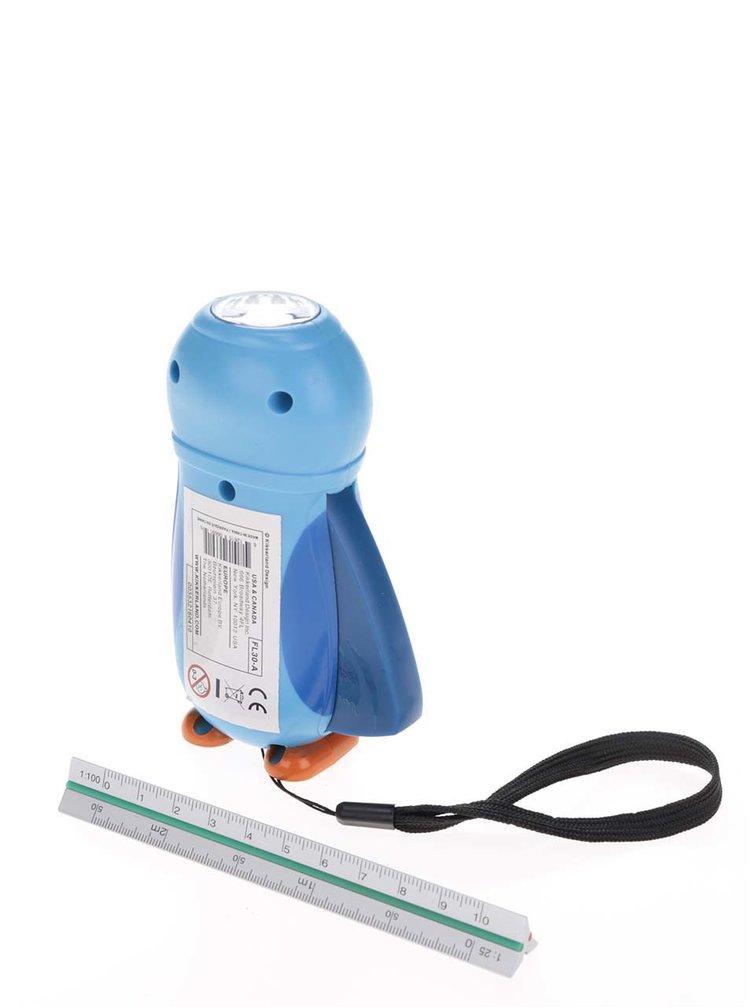Lanternă albastră cu dinam Kikkerland