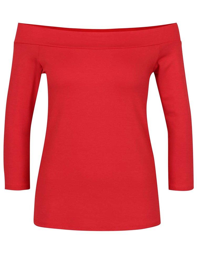 Bluza rosie ZOOT cu decolteu pe umeri
