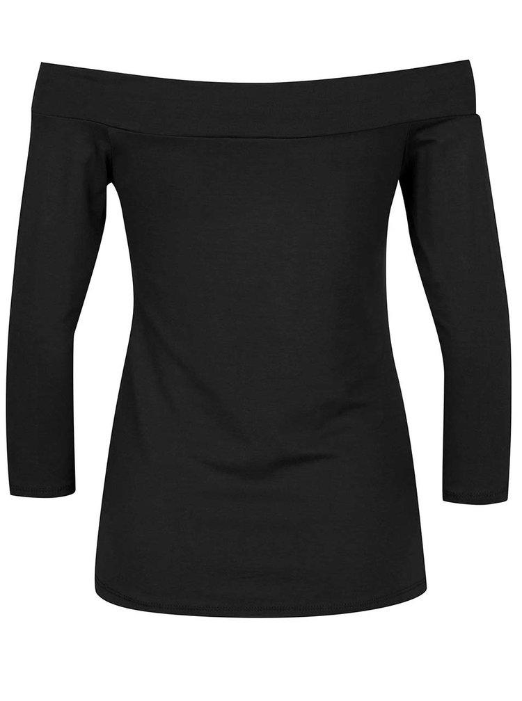 Bluză neagră ZOOT cu decolteu pe umeri