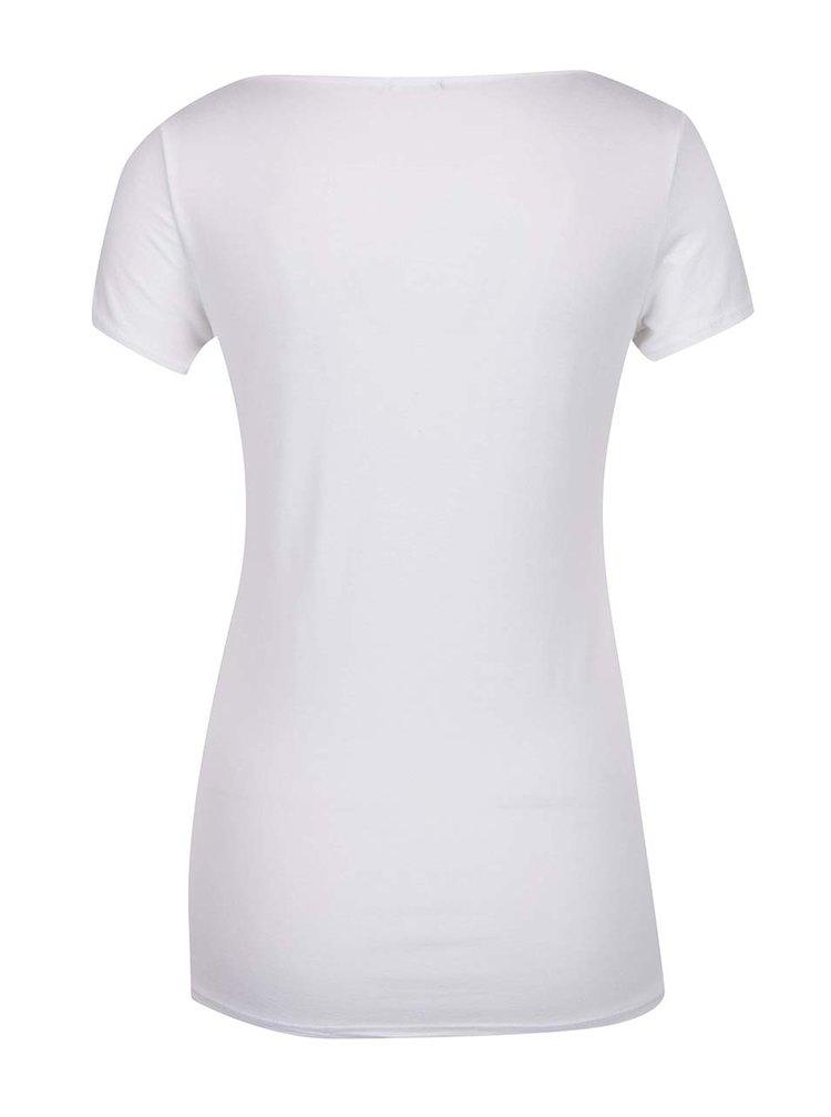 Bílé basic tričko s kulatým výstřihem ZOOT