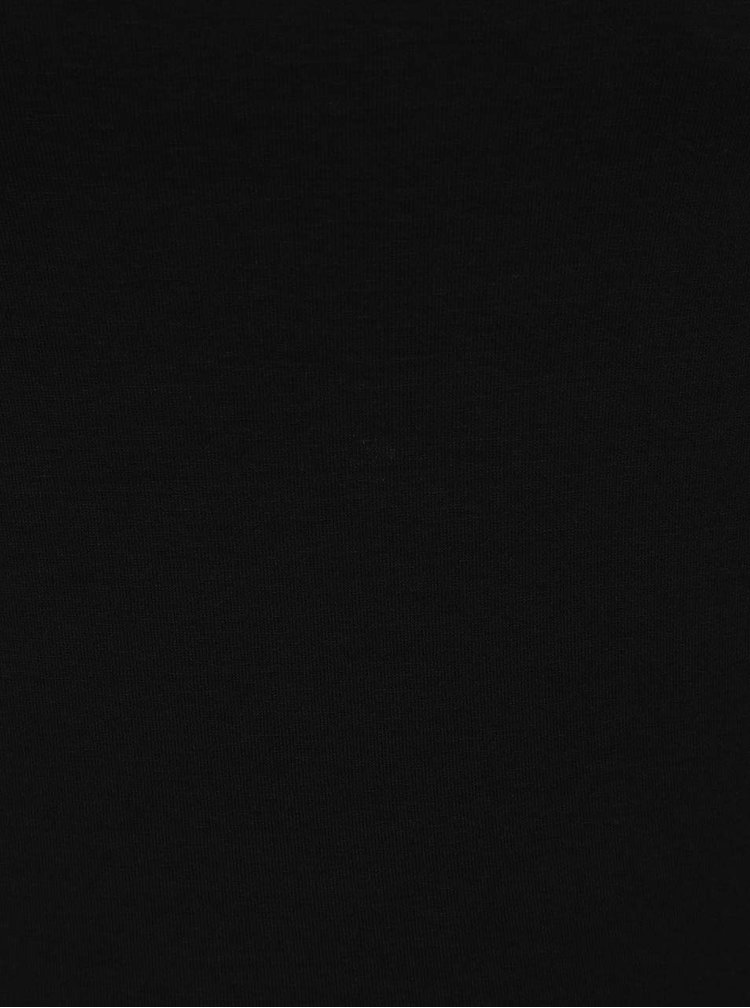 Černé basic tričko s 3/4 rukávem ZOOT