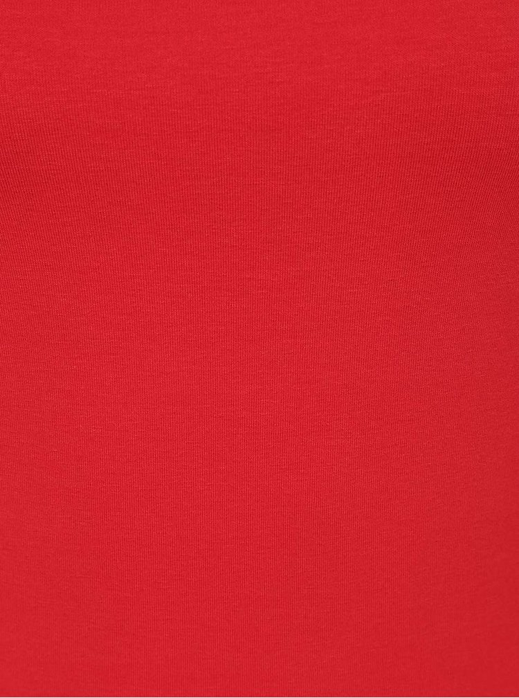 Bluza basic rosie ZOOT cu maneci 3/4