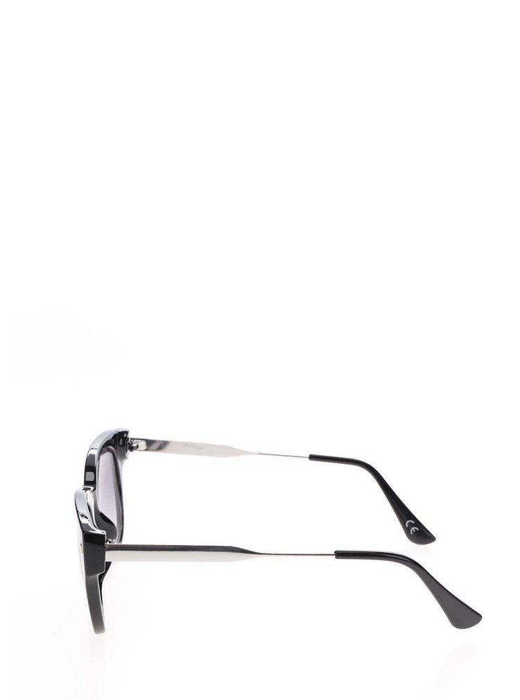 Ochelari de soare negri Jeepers Peepers cu lentile in degrade