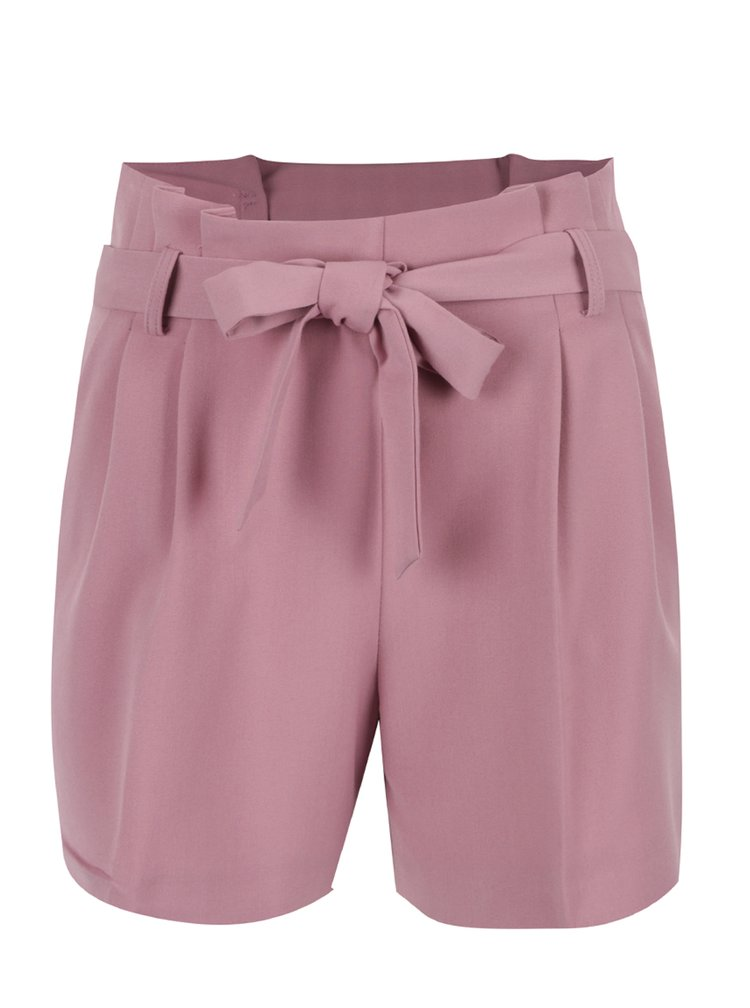 Pantaloni scurti roz Miss Selfridge cu cordon