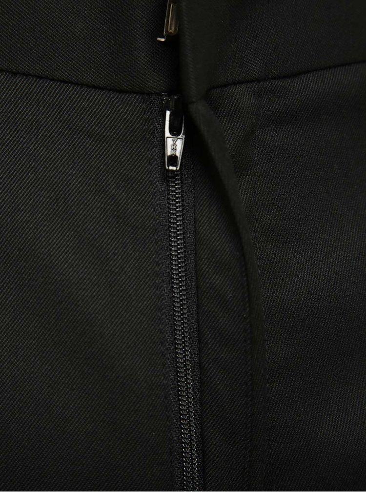 Černé formální regular fit kalhoty Burton Menswear London