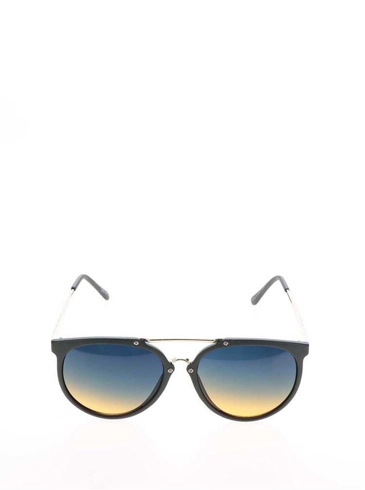 Tmavě zelené kulaté brýle s barevnými skly Jeepers Peepers