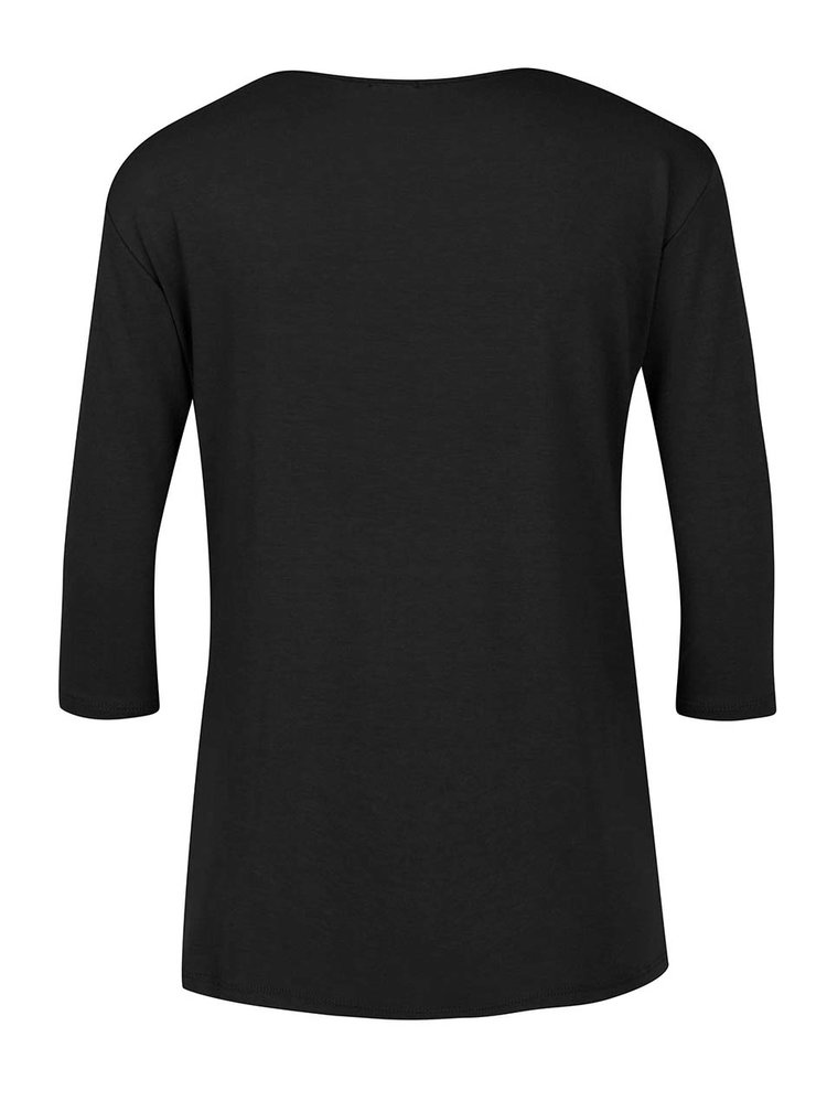 Bluza neagra ZOOT cu decolteu V cu siret