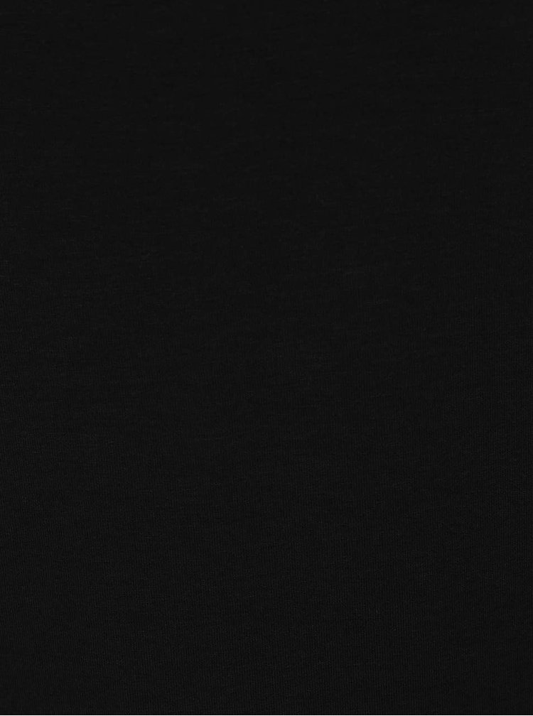 Černé tričko s pásky v dekoltu a 3/4 rukávem ZOOT