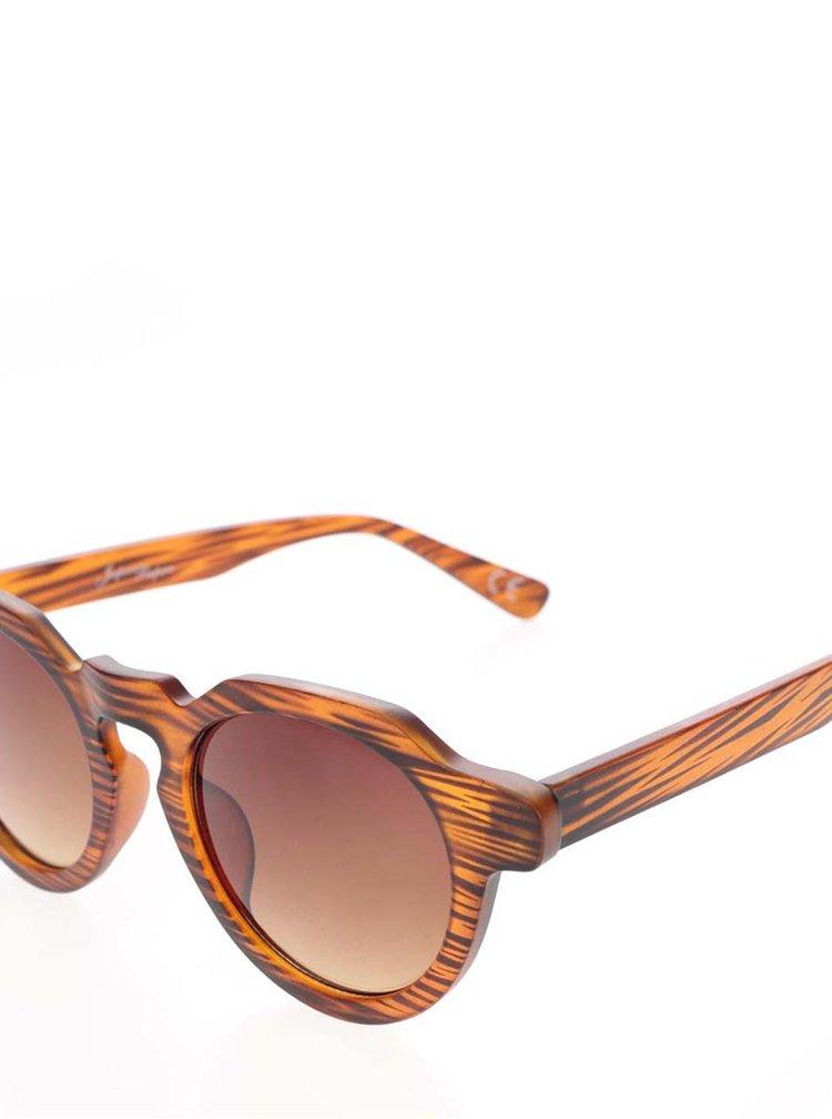 Ochelari de soare cu aspect lemn Jeepers Peepers cu lentile maro