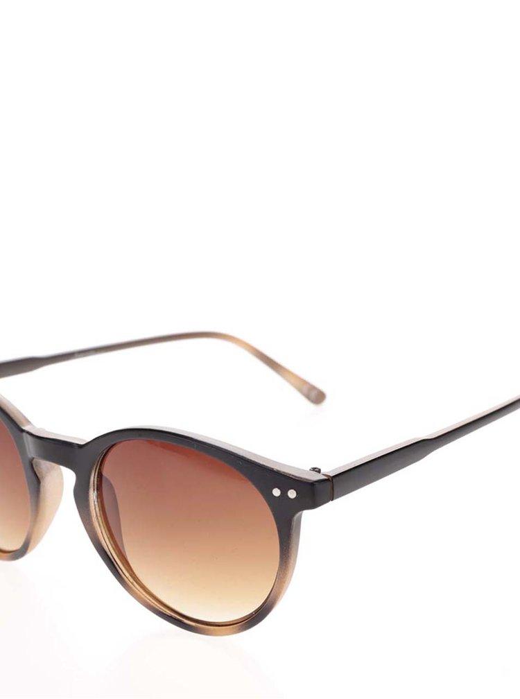 Hnědé jemně vzorované kulaté brýle Jeepers Peepers