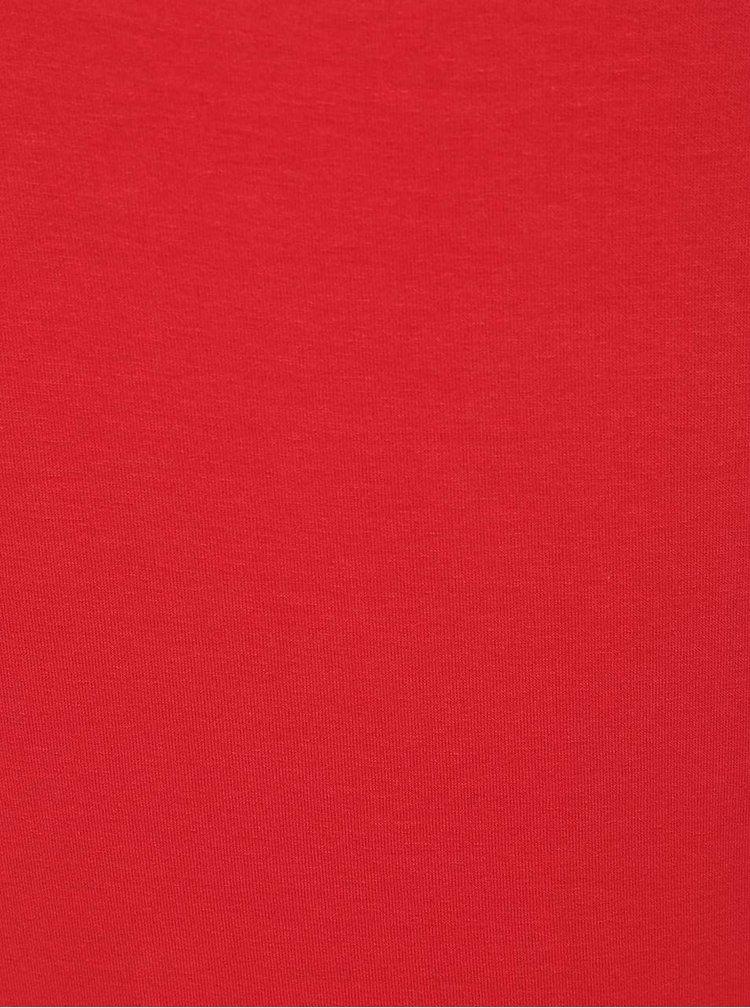 Bluza rosie ZOOT cu decolteu V cu siret