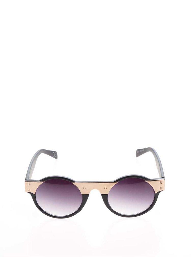 Ochelari de soare negru & auriu Jeepers Peepers cu lentile degrade