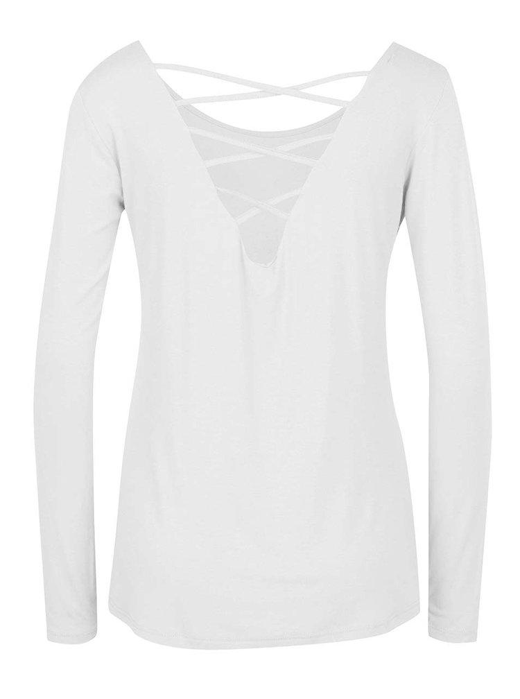 Bílé tričko s pásky na zádech a dlouhým rukávem ZOOT