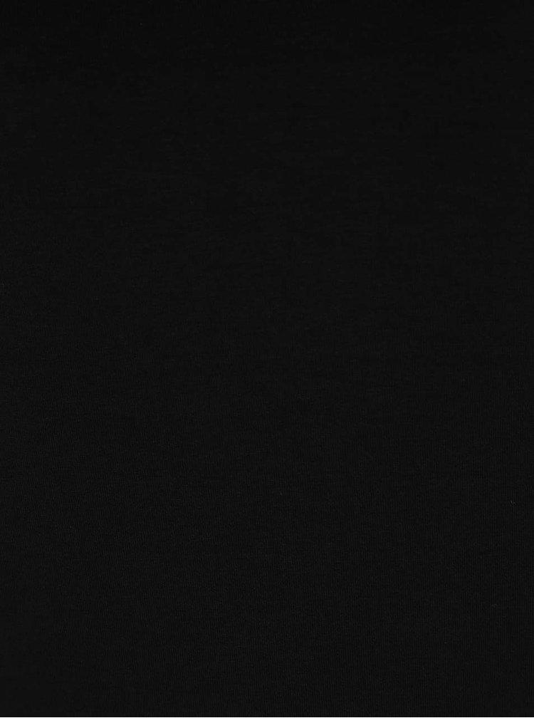 Černé tričko s pásky na zádech a dlouhým rukávem ZOOT