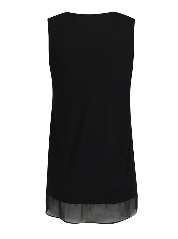 Rochie neagră cu model suprapus Desigual Sábado