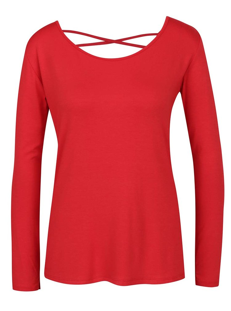 Bluza rosie ZOOT cu siret incrucisat la spate