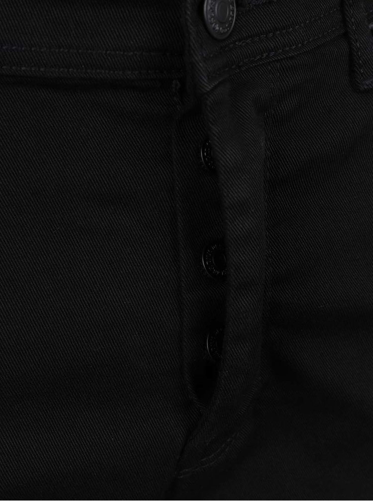 Černé stretch slim kalhoty Burton Menswear London