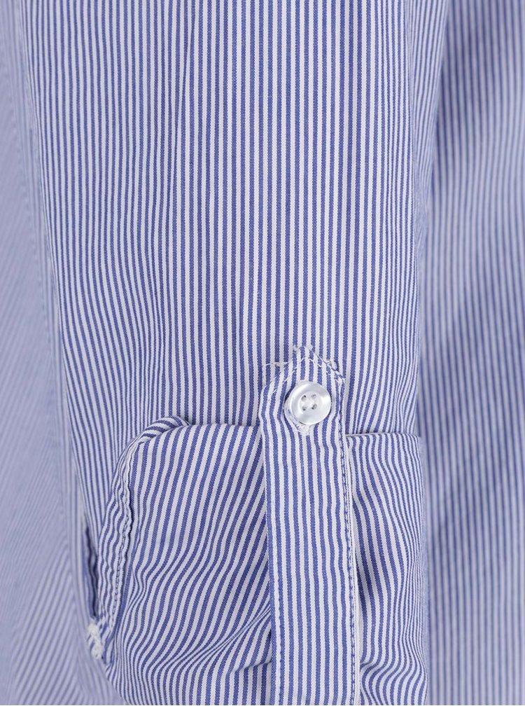 Modro-bílá pruhovaná košile s nášivkami Jacqueline de Yong Tiffany