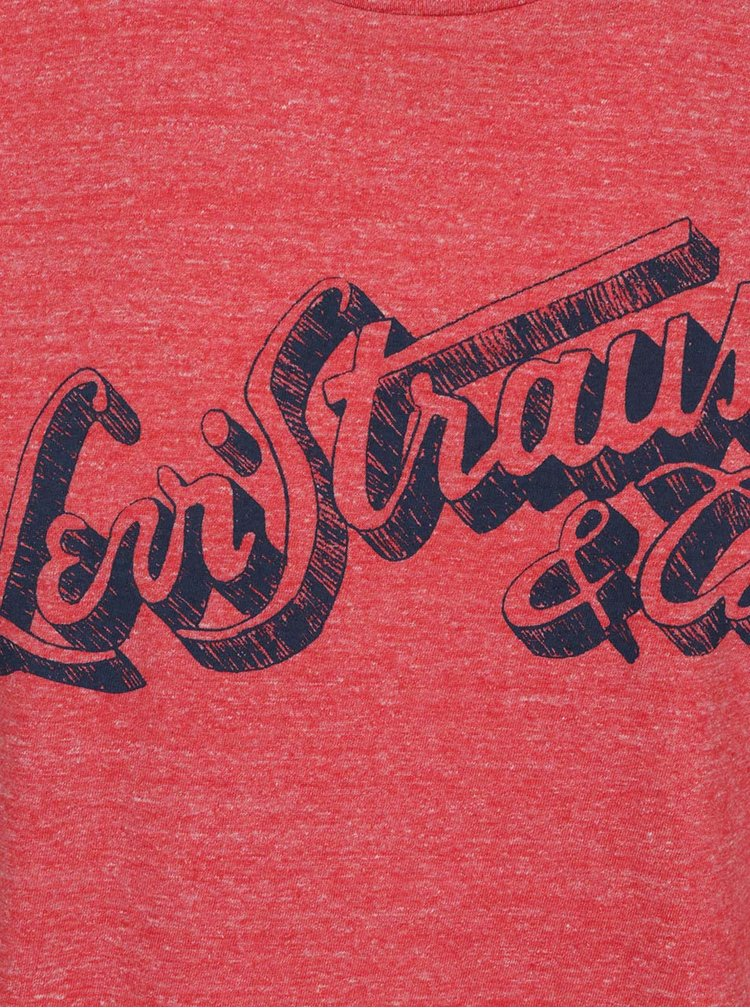 Triocu roșu melanj Levi's® cu print