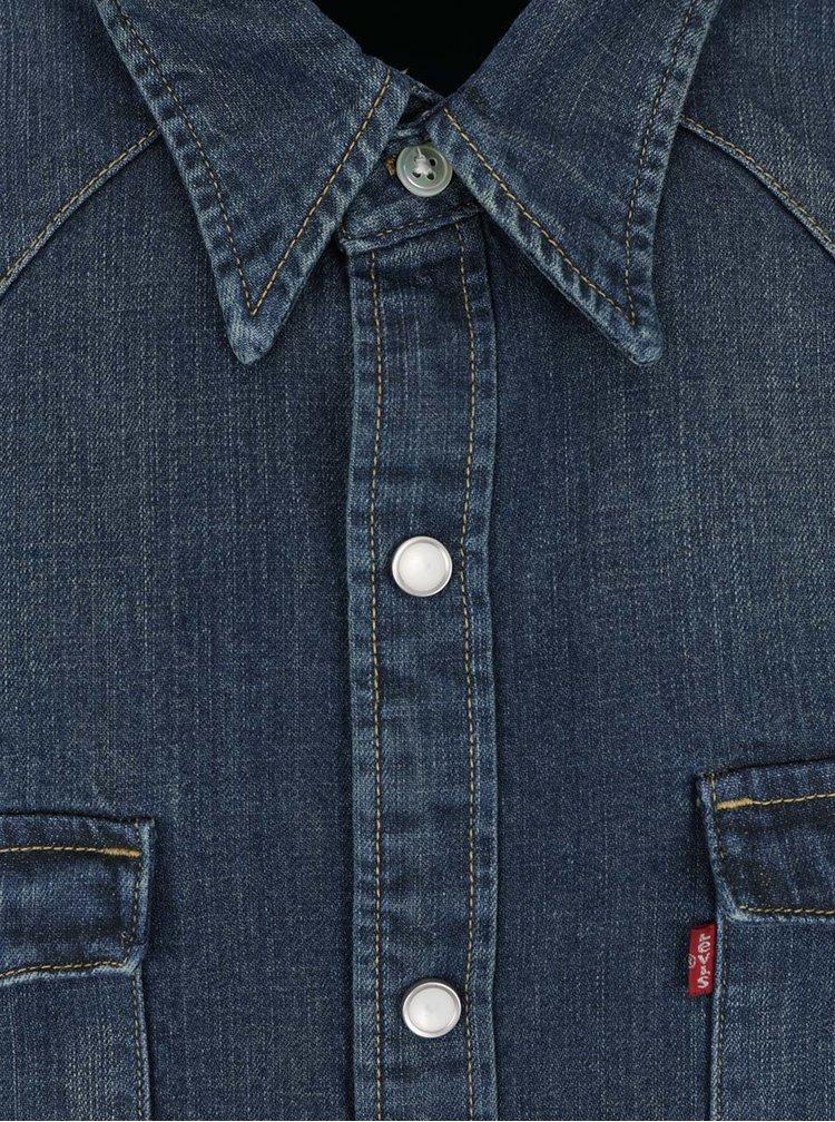 Cămașă albastru închis din denim Levi's® pentru bărbați