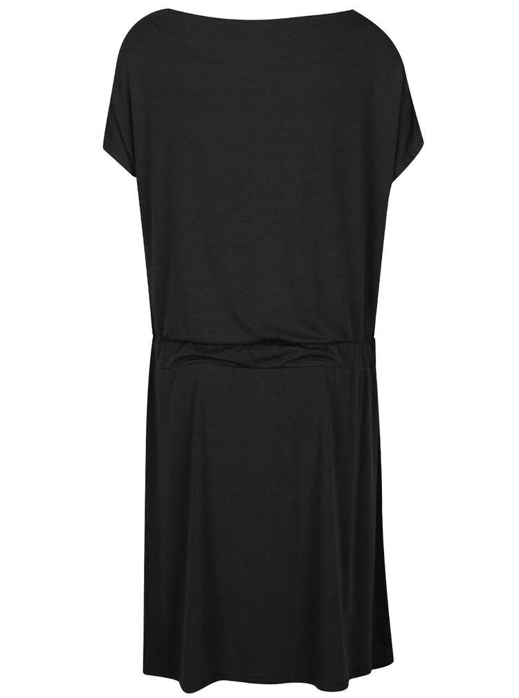 Čierne šaty s lodičkovým výstrihom ZOOT