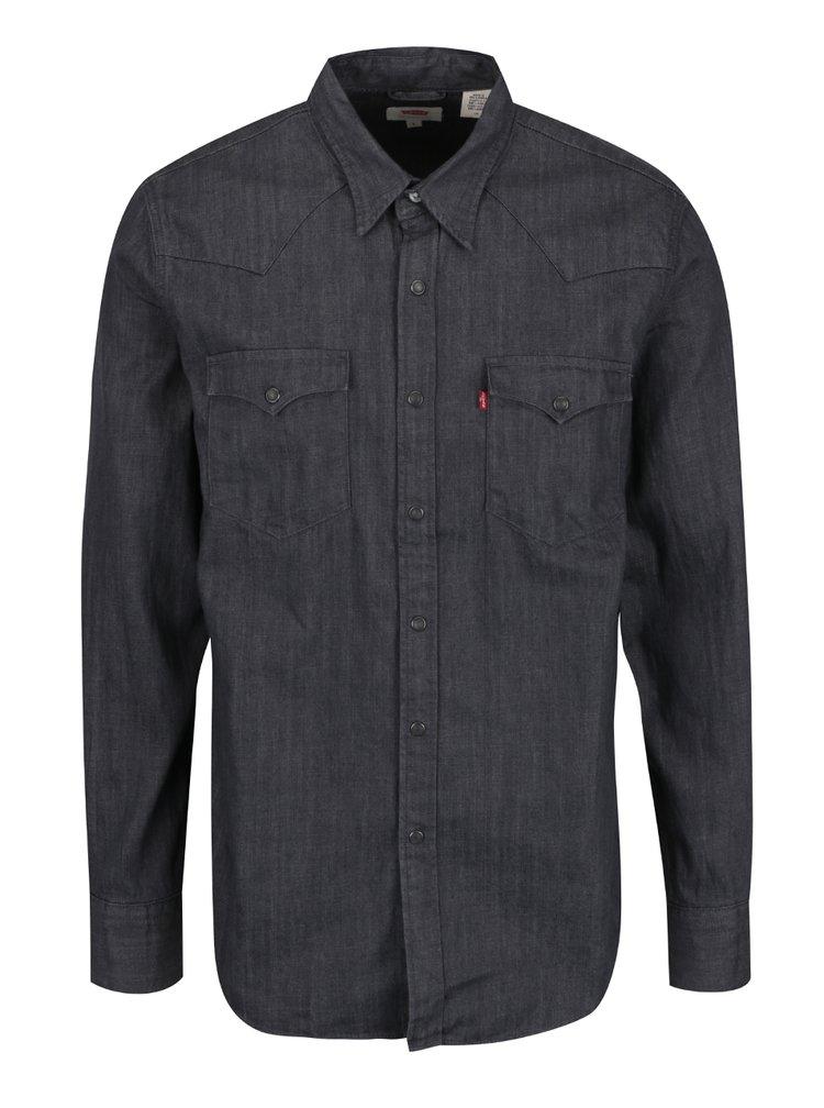 Tmavě šedá pánská džínová košile Levi's®