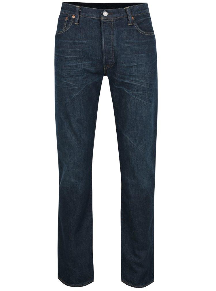 Blugi albastru inchis Levi's® 501™ cu aspect usor deteriorat