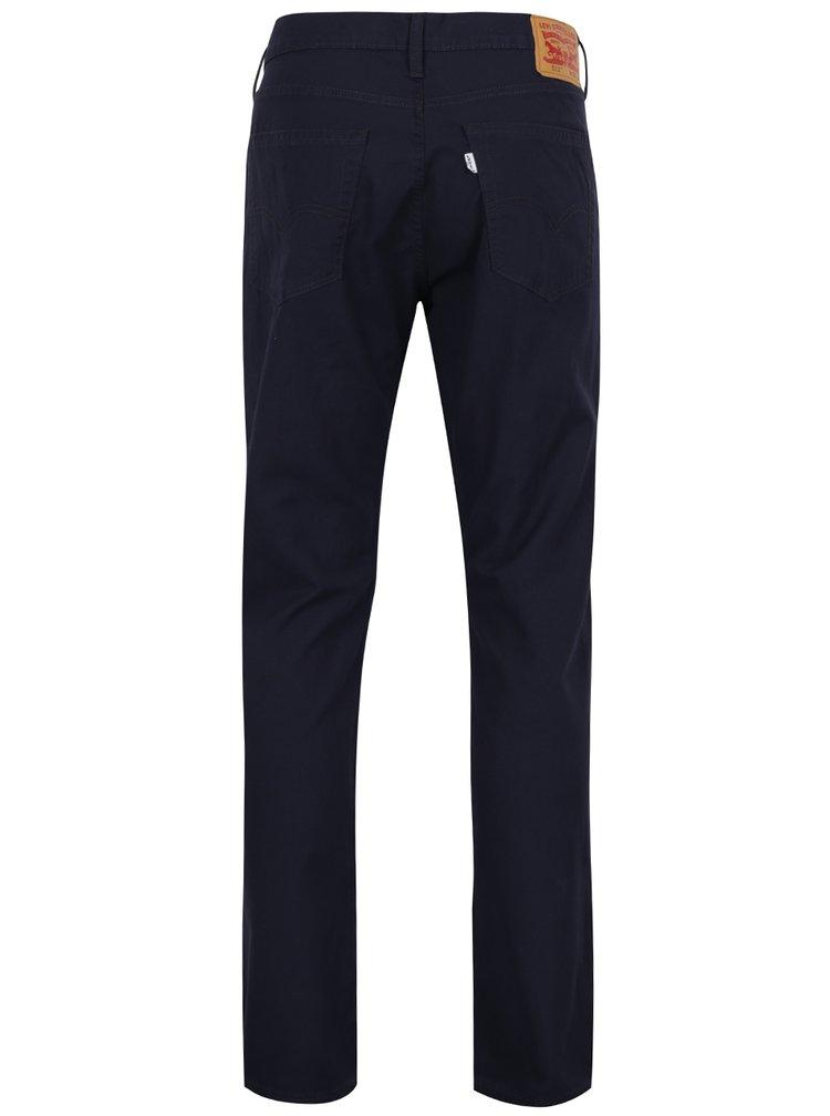 Tmavě modré slim fit pánské kalhoty s příměsí lnu Levi's® 511™