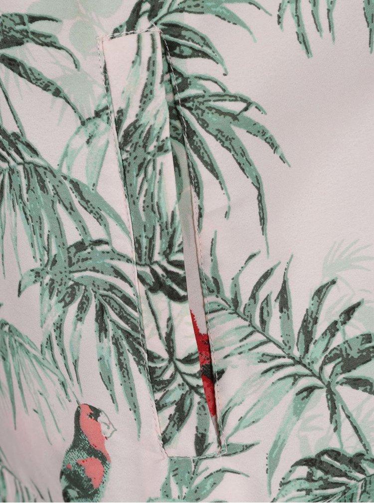 Zeleno-růžový vzorovaný bomber TALLY WEiJL