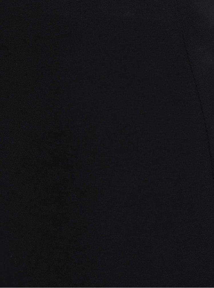 Černá minisukně s řasením na boku TALLY WEiJL
