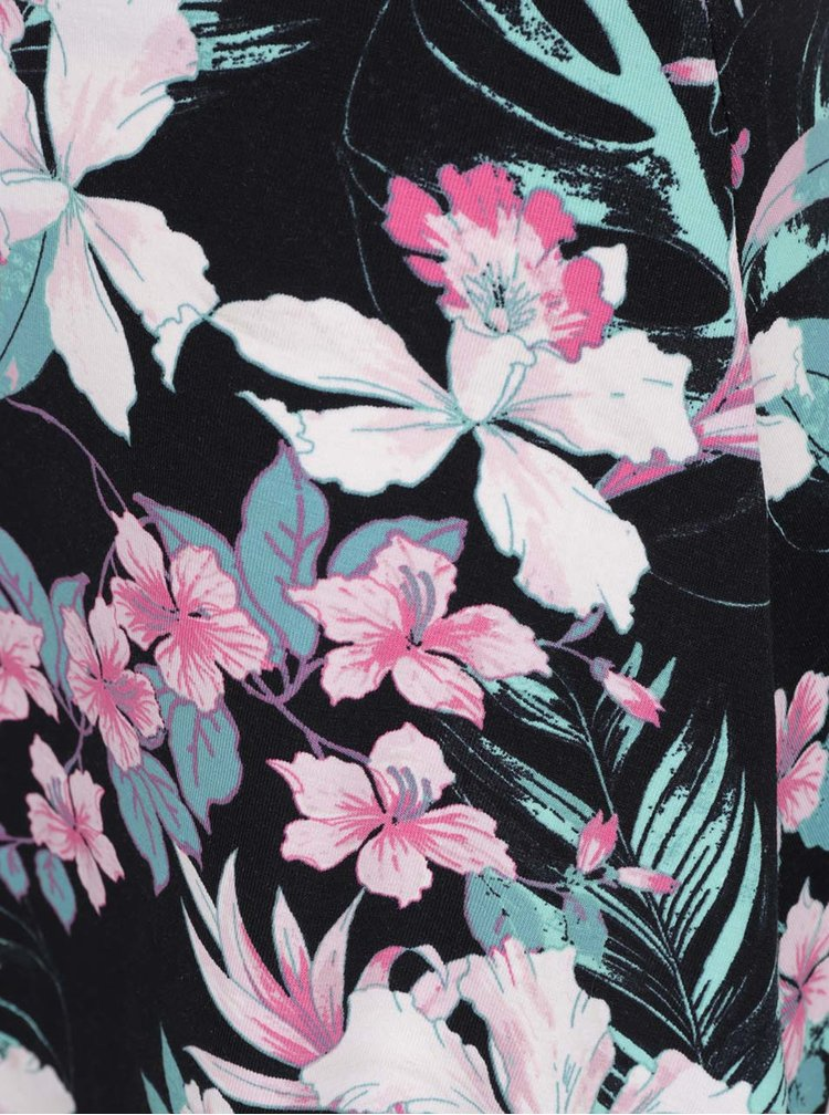 Fustă neagră TALLY WEiJL cu imprimeu floral
